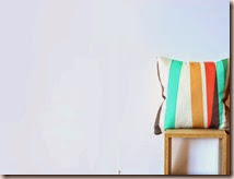White Pillow Cover with Emerald, Tangerine, Tan, Taupe, Brown Stripes