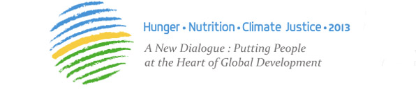 Logo for the Hunger, Nutrition and Climate Change 2013 conference in Dublin. Graphic: eu2013.ie