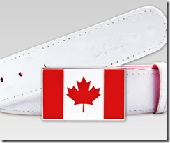 Druh Canada Flag Belt with white strap
