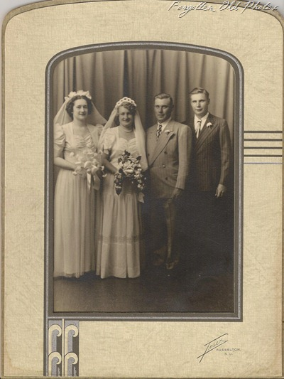 Wedding Group Late 1940 Casselton ND DL Antiques