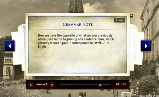 Grammar Note from French Mango Homeschool Edition