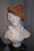 Victorian Woman Bust W/ Red Hat
