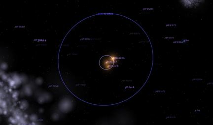 localização da estrela ROXs 42B