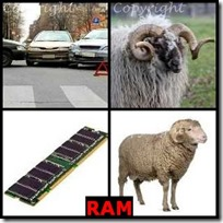 RAM- 4 Pics 1 Word Answers 3 Letters