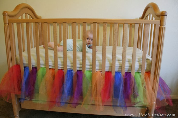 no sew tutu crib skirt33