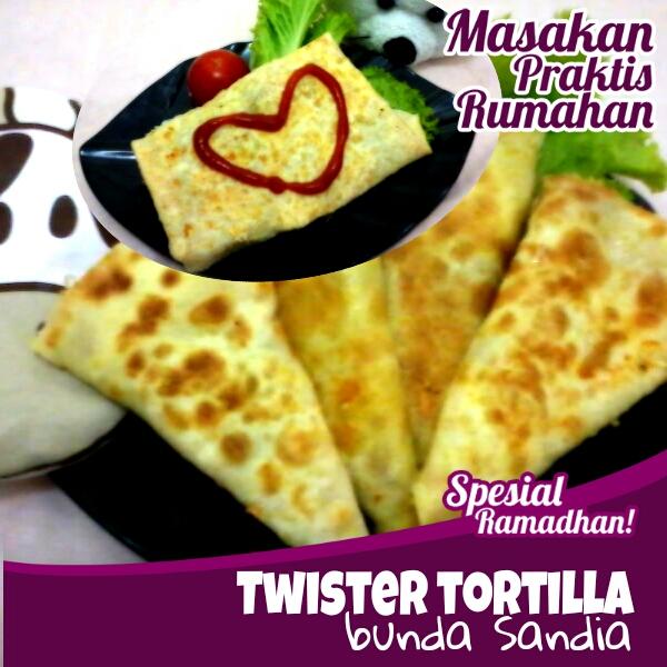 Satu lembar tortilla bisa jadi 4 twister yang lezat buat kudapan si ...