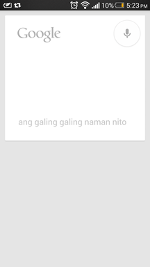 Google Now Filipino