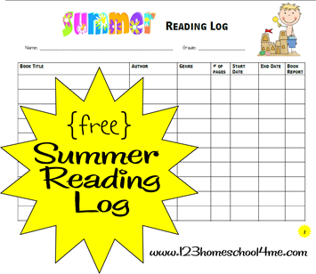 10 ways to prepare for summer for Summer reading log template