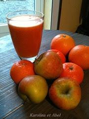 jus carottes pommes clémentines