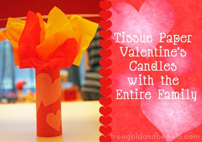 Treegold and Beegold: Tissue Paper Valentine's Day Candles Children's Craft