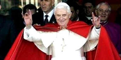 pope_ratzinger_handsign dress red slippers shoes silent hypocrite sexual abuse