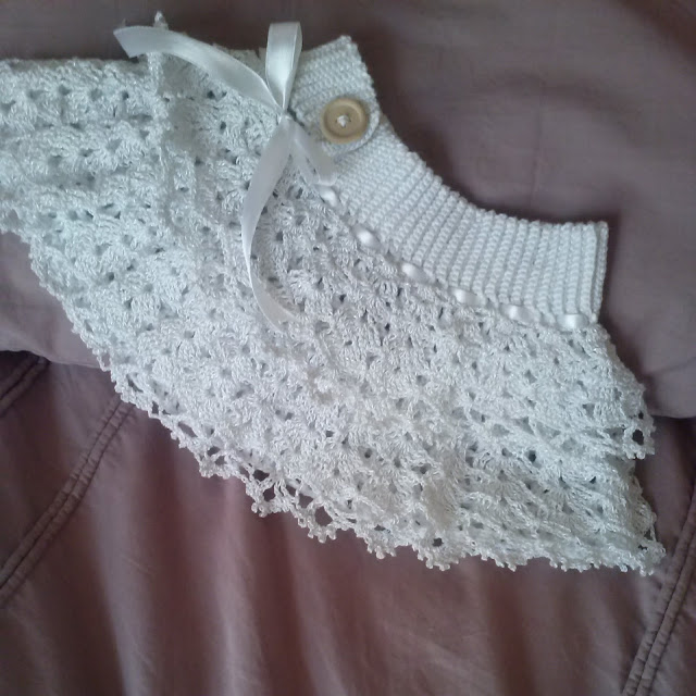 The Zen Crocheter: Crochet ruffled white lace baby girl ...
