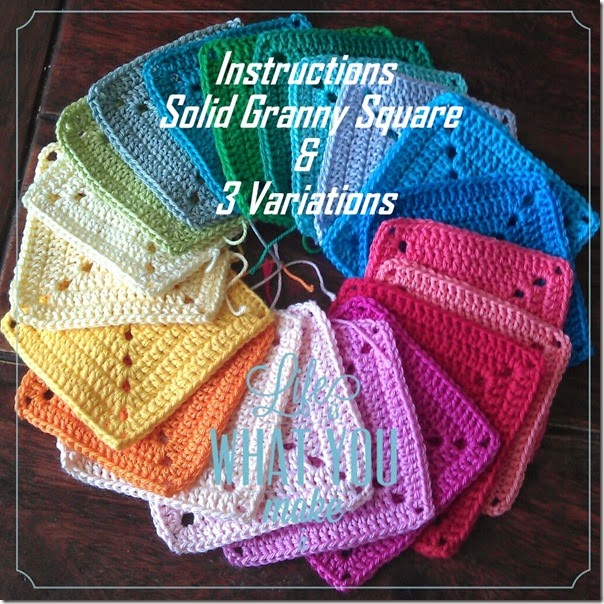 Cherrym Klim U Bim Instructions Solid Granny Square 3 Variations