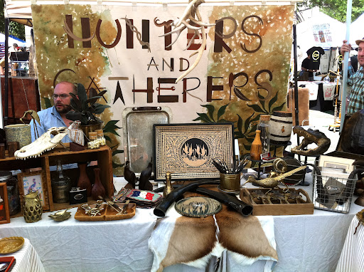 The interns particularly liked this vendor. He had an interesting collection of nature-inspired items for the home.