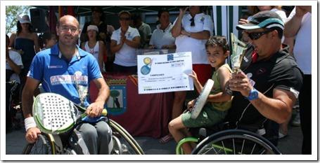Javier Hurtado y Miguel Ángel Muñoz Campeones del III Torneo Nacional de Pádel Adaptado.
