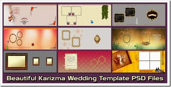 Beautiful Karizma Wedding Template PSD Files