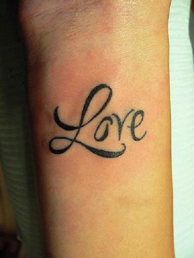 Tattoo fonts cursive love for Cursive writing tattoos