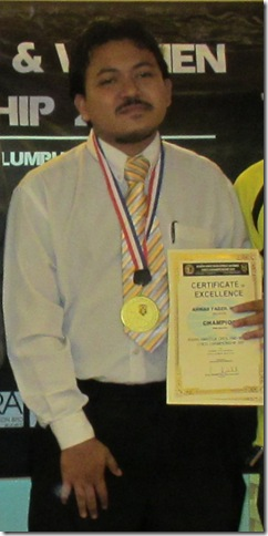 Ahmad Fadzil Nayan, Asian Amateur Champion 2011