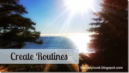 Create Routines - The Cozy Nook