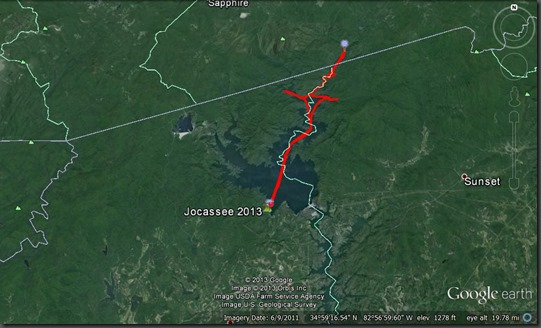 GPS Overview of Jocassee