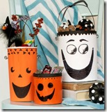 Halloween Recycled candy containers