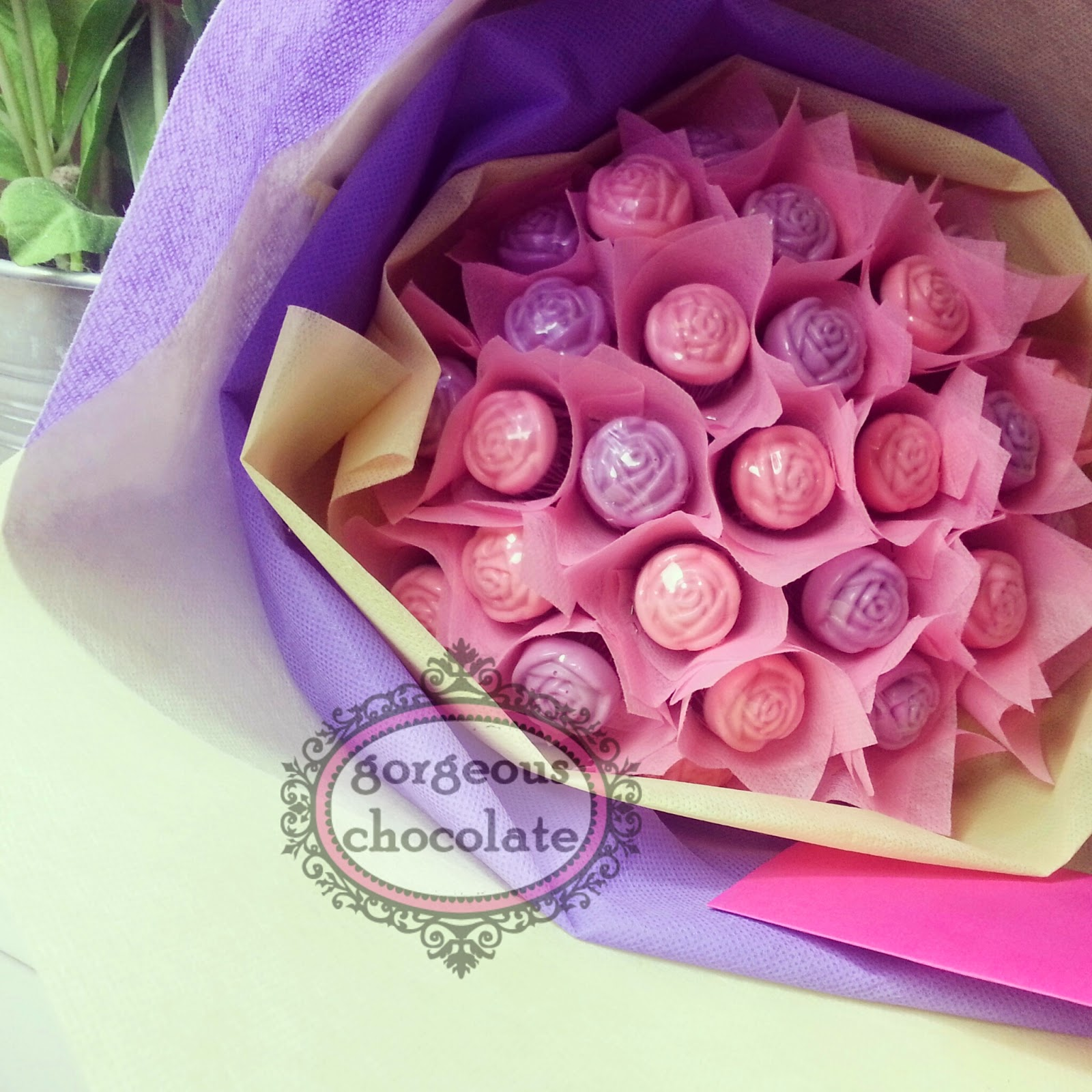 My Gorgeous Homemade Chocolate Chocolate Rose Bouquet
