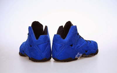 nike lebron 11 nsw sportswear ext blue suede 2 03 Nike LeBron XI (11) EXT Blue Suede Detailed Pictures