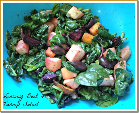 lemony beet turnip salad