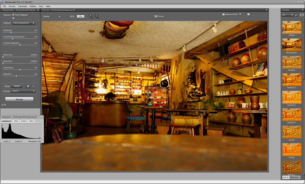 HDRSoft Photomatix 4.2.3 Tone Mapping UI