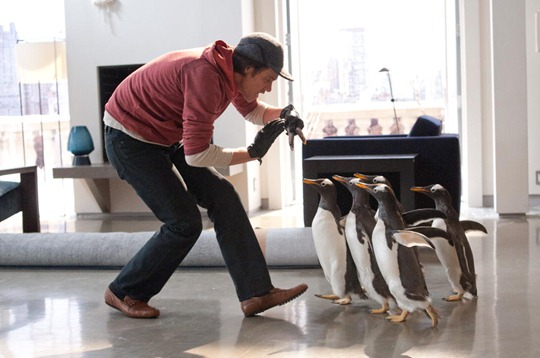 jim carrey and penguins