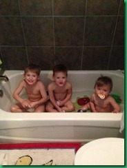 three in the tub