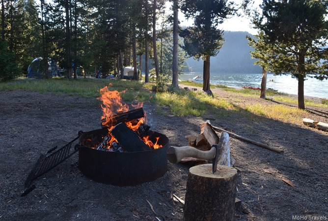 campfire time at East Lake