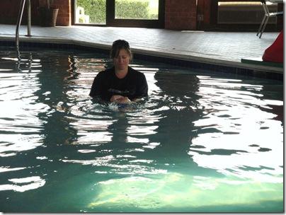 1.  Knox's first self rescue swim lesson