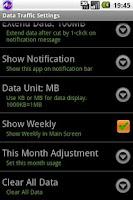 Screenshot of Data Traffic Control