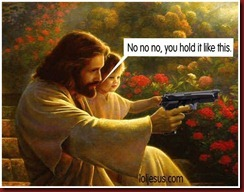 Jesus-Holding-A-Gun-Christians-and-Guns