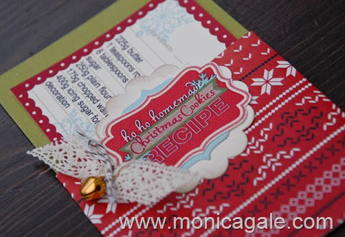 sweet on christmas recipe label