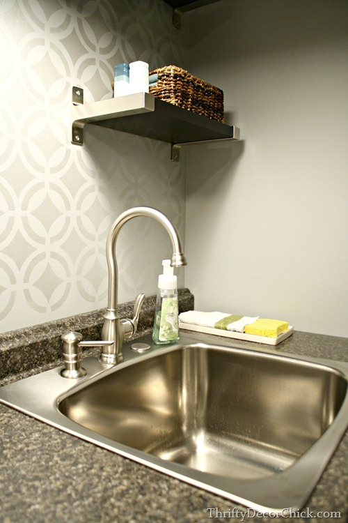 basement kitchenette sink