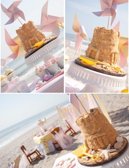 Semplicemente Perfetto beach-baby-castle-cake