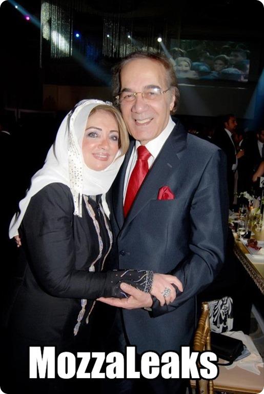 محمود ياسين مع زوجته شهيرة الخطيرة