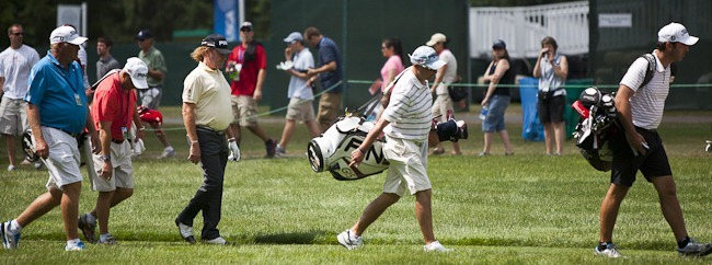 Miguel Angle Jimenez at 2011 US Open