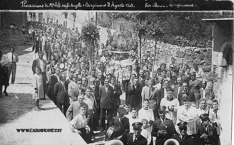 Processione di S.Maria degli Angeli, 2 agosto 1949