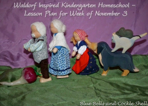 Waldorf Inspired Kindergarten Homeschool - Lesson Plan for Week of November 3 | from Blue Bells and Cockle Shells