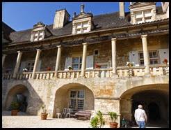 a chateau colonnade