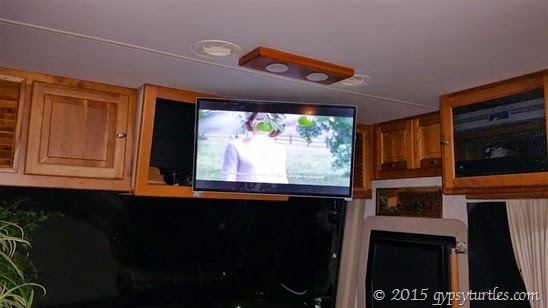 TV on arm