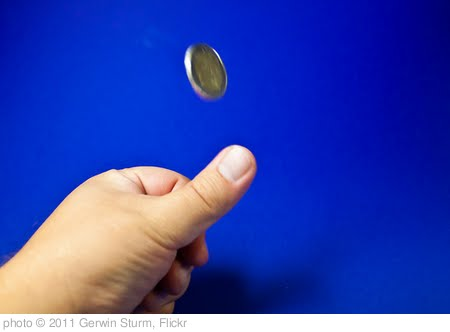 'Coin tossing' photo (c) 2011, Gerwin Sturm - license: http://creativecommons.org/licenses/by-sa/2.0/