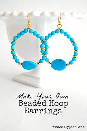 DIY Beaded Hoop Earrings - The Silly Pearl