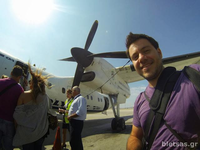 Το αεροπλάνο που μας πήγε Σύρο. Ένα ελικοφόρο De Haviland!