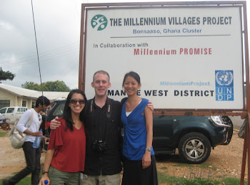 'Visiting the Millennium Villages Project in Bonsaaso.' Photo by Sandra Vu