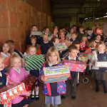 Delivering Shoeboxes to Operation Christmas Child warehouse.JPG