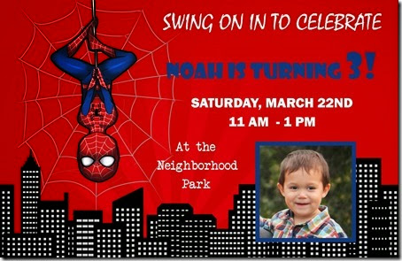 Spiderman Invite